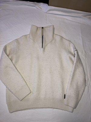 Joop! Pull en laine blanc cassé