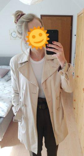 Cremefarbener Trenchcoat Jacke Mantel von Zero Größe 36. Nur wenige Male getragen