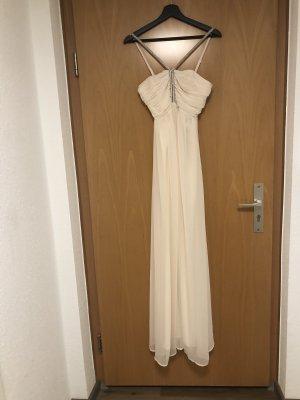 Cremefarbenes Abendkleid