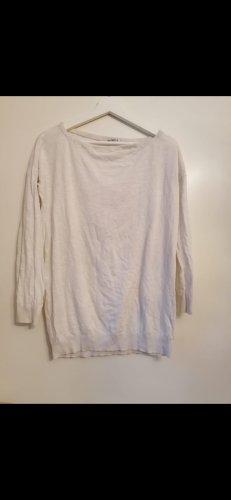 Cremefarbenes Basic oversized T-Shirt