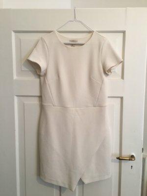 Cremefarbenes Kleid aus Strukturstoff aus der H&M Premium Kollektion