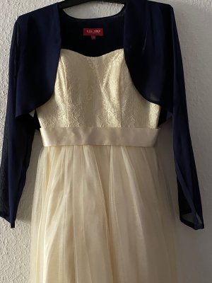 Laona Off-The-Shoulder Dress cream-dark blue