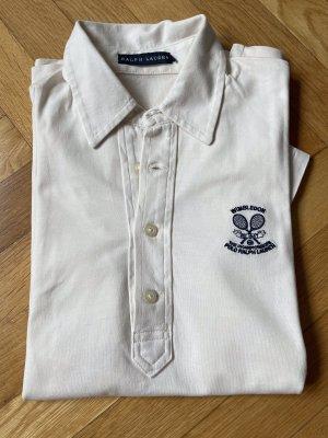 Polo Ralph Lauren Camiseta tipo polo blanco puro-azul oscuro