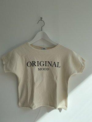 Cremefarbenes T-Shirt von Zara