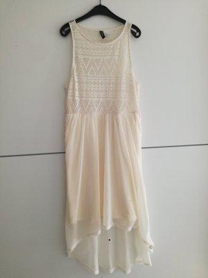 H&M Divided Robe bas asymétrique crème