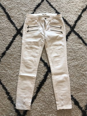 Cremeweiße Ankle Jeans