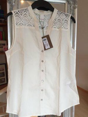 Vila Koronkowa bluzka w kolorze białej wełny