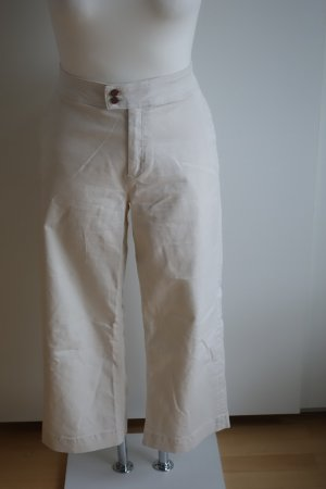 Cremeweiße cropped Jeans