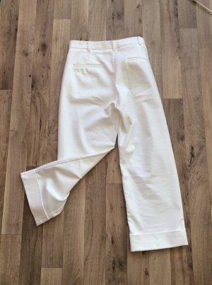 Cremeweiße Hose Cropped