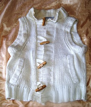 Gina Tricot Knitted Vest natural white cotton