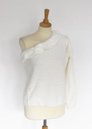 cremeweißer Oneshoulder Pullover S/M Kilibbi