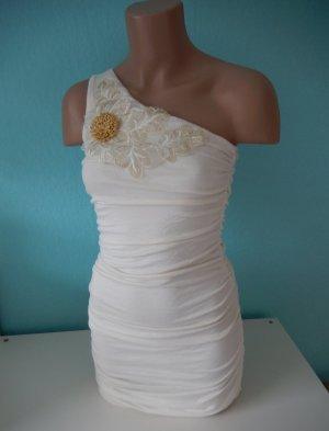 AX Paris Sukienka na jedno ramię w kolorze białej wełny