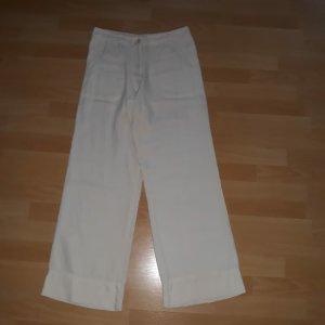 Bon'a Parte Lniane spodnie kremowy