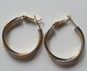 Ear Hoops silver-colored-gold-colored