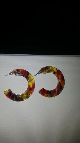 Pendientes tipo aro multicolor