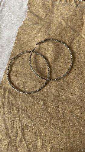 H&M Zdobione kolczyki srebrny
