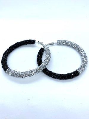 Juwelier Créoles noir-gris clair