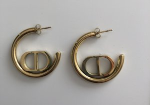 Ear Hoops bronze-colored-gold-colored metal