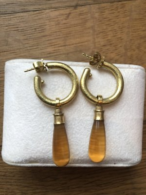 Pendientes de oro color oro-marrón