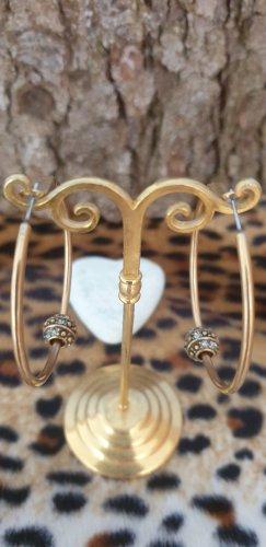 Pendientes tipo aro color oro
