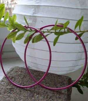 Unbekannte Marke Orecchino a cerchio rosa