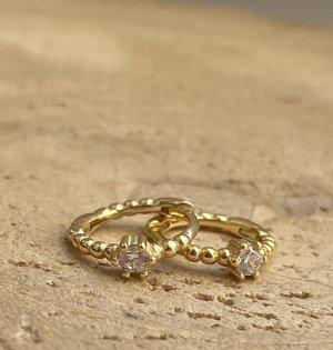 Silver Pendientes de oro color oro