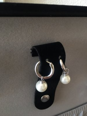 Creolen mit Perlen