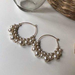 Creolen mit Perlenband