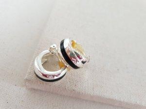Retro Ohrclips Orecchino a clip nero-argento