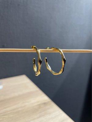 Creolen Ohrringe 925 Silber vergoldet neu