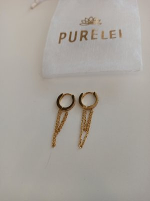 Purelei Gold Earring silver-colored-gold-colored