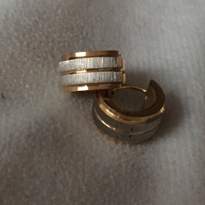 Creolen Ohrringe silber gold aus Edelstahl