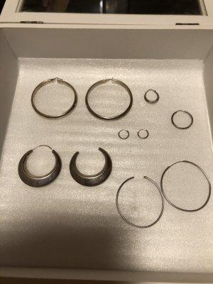 Creolen Silber einzelne verschiedene Größen