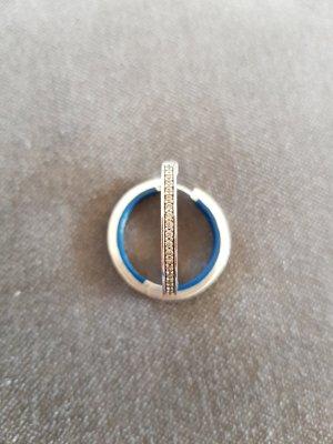 Esprit Pendientes tipo aro color plata-azul