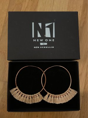 New One Ear Hoops rose-gold-coloured