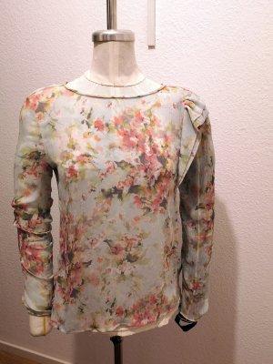 Crepe Bluse mit Aquarelldruck Zara Woman Gr. M neuwertig