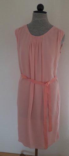 Handmade Chiffon Dress pink silk