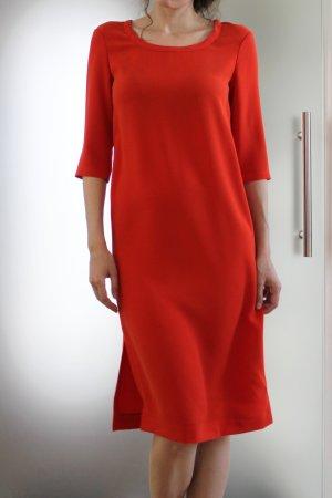 Jil Sander Vestido ceñido de tubo rojo claro