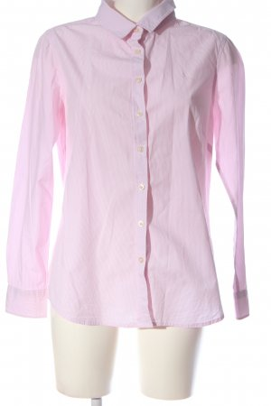 Crew Clothing Long Sleeve Shirt pink-white striped pattern casual look