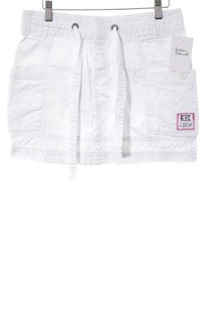 Crew Clothing Miniskirt white Band ornaments