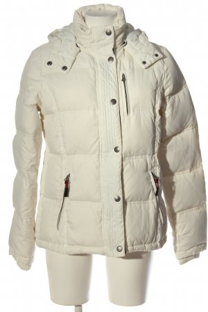 Crew Clothing Winter Jacket cream quilting pattern casual look