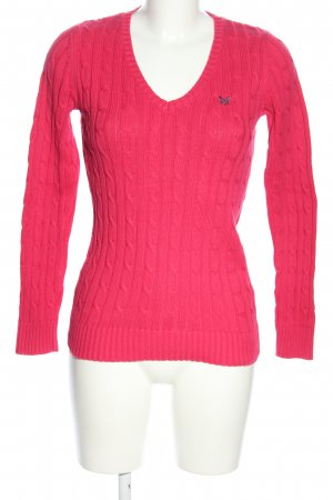 Crew Clothing Jersey trenzado rosa letras bordadas look casual