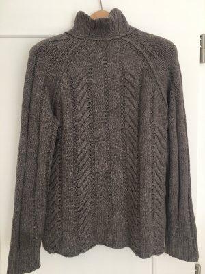 James Perse Coarse Knitted Sweater grey brown alpaca wool