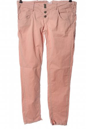Crew United Five-Pocket Trousers pink casual look