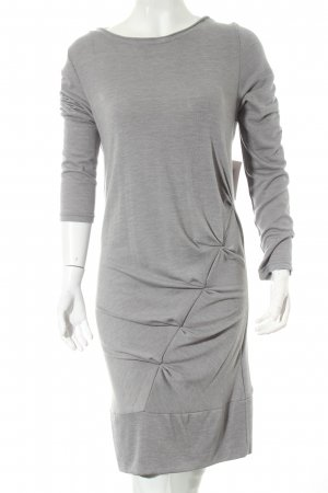 Crew United Strickkleid grau Materialmix-Look