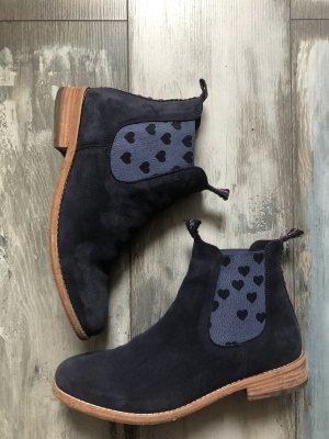 Crickit Chelsea Boots Leder mit Herzen blau 269€