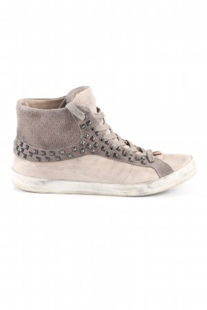 Crime High Top Sneaker wollweiß-braun Casual-Look