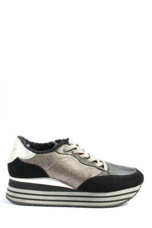Crime London Heel Sneakers black-brown casual look