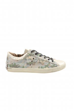 Crime Lace-Up Sneaker camouflage pattern casual look