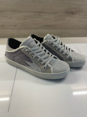 Crime Lace-Up Sneaker silver-colored-light grey